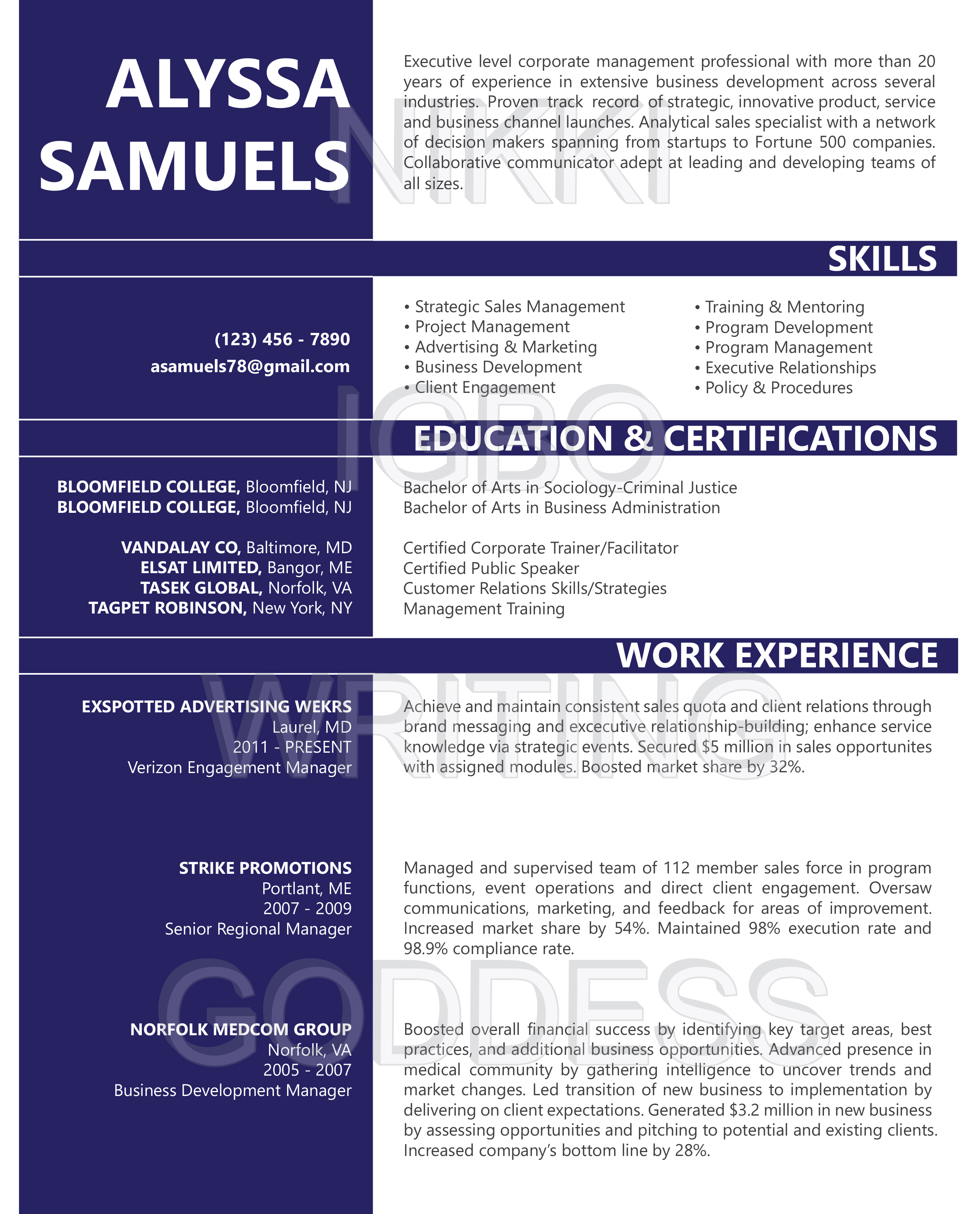 international resume format for electrical engineers