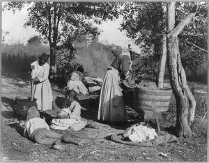 Washerwomen-and-children
